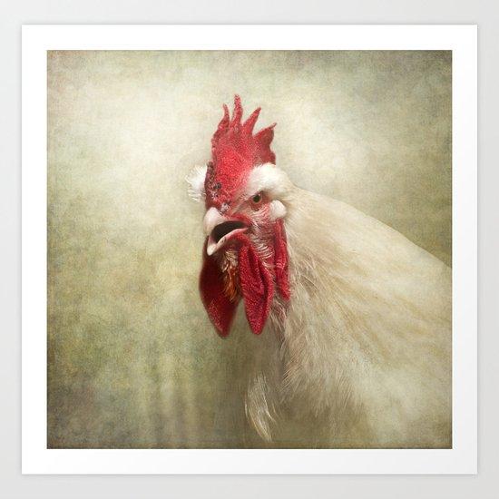 Portrait of a chicken Art Print
