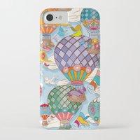 hot air balloon iPhone & iPod Cases featuring Hot Air Balloon by Helene Michau