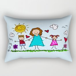 To Mom With Love Rectangular Pillow