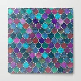 Colorful Mermaid Scales Metal Print