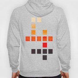 Colorful Minimalist Orange Mid Century Modern Minimalist Square Geometric Pattern Hoody