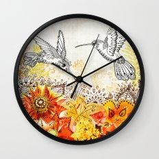 Hummingbird Garden Wall Clock