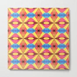 Groovy pattern Metal Print