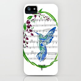 Carrier of Hope (Hummingbird and Wisteria) iPhone Case