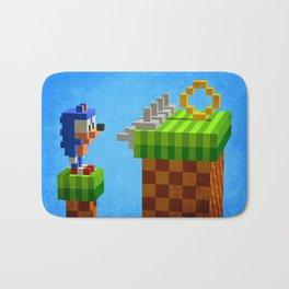 Sonic's dilemma Bath Mat