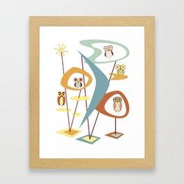 It's Owl Atomic Framed Art Print