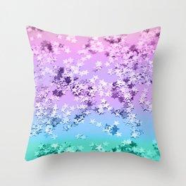Unicorn Girls Glitter Stars #1 #shiny #decor #art #society6 Throw Pillow