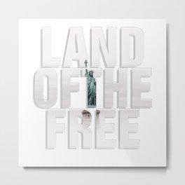 LAND OFTHE FREE Metal Print