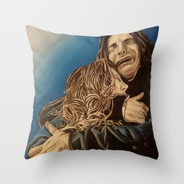 Severus and Lily, oil painting Throw Pillow