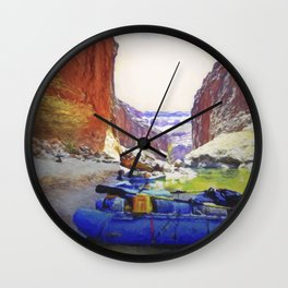 Rafting Rest Area Wall Clock
