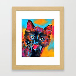 Fierce Kitty Framed Art Print