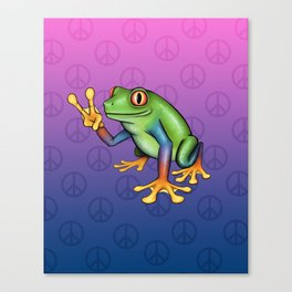 Peace Frog Canvas Print