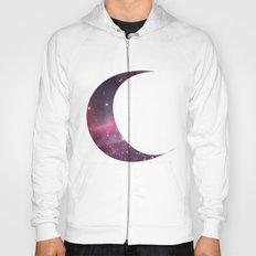 cosmic crescent moon Hoody