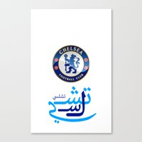 chelsea Canvas Prints featuring Chelsea by Sport_Designs