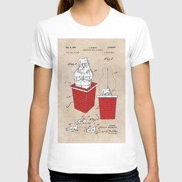patent art Rubens Disappearing Santa in Chimney 1960 T-shirt