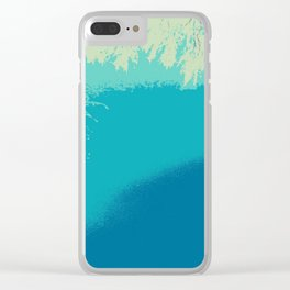 Blue fall Clear iPhone Case
