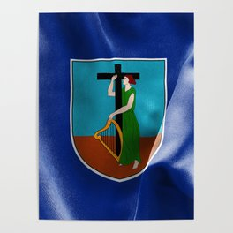 Montserrat Flag Poster
