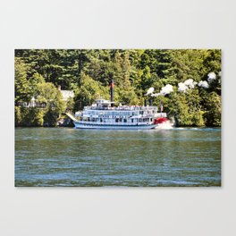 Minne-Ha-Ha Steamboat on Lake George Canvas Print