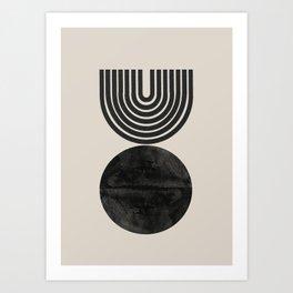 Woodblock Print, Modern Art Art Print