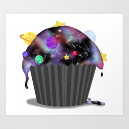 Galaxy Cupcake Art Print