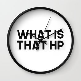 WHAT IS THAT HP Wall Clock