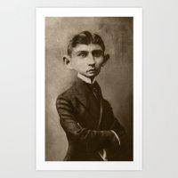 kafka Art Prints featuring Kafka by Jason Seiler
