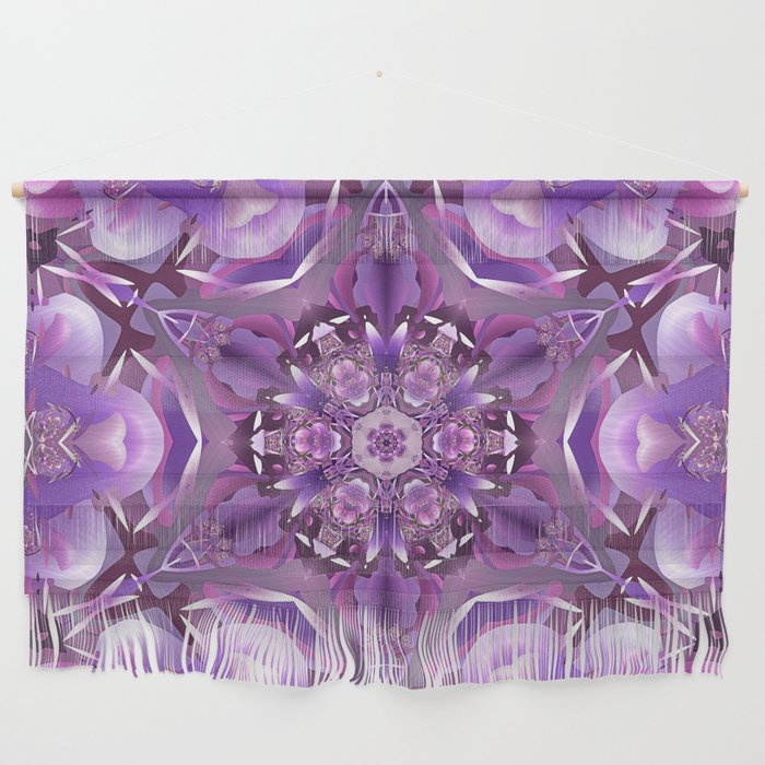 Truth Mandala in Purple, Pink and White Wall Hanging