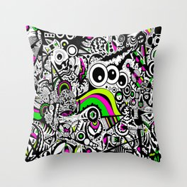 Looking in the three eyes Throw Pillow