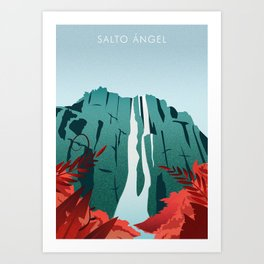 Salto Angel Art Print