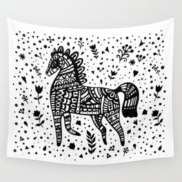Little Black Pony Wall Tapestry