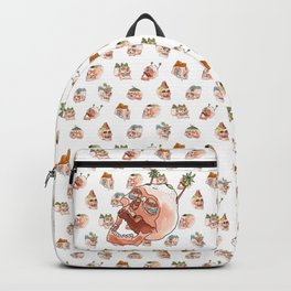 Mountain Fresh Hair Pattern Backpack