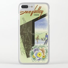 Vintage poster - Sun Valley, Idaho Clear iPhone Case