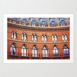 Red brick Art Print
