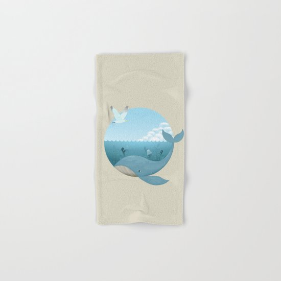 Whale & Seagull (US and THEM) Hand & Bath Towel