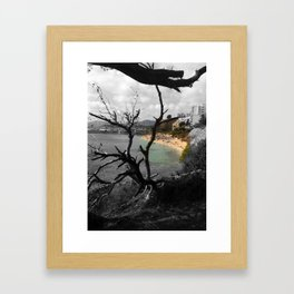 """There's The Beach"""" Framed Art Print"""