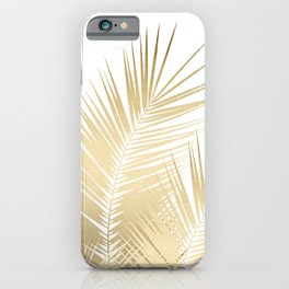 Gold Palm Leaves Dream - Cali Summer Vibes #1 #tropical #decor #art #society6 iPhone Case