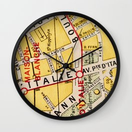 All About Paris IV Wall Clock