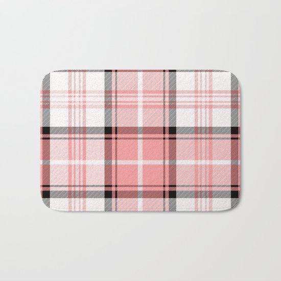 Pink Tartan Bath Mat