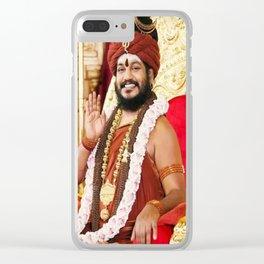 Shri swami nithyananda Clear iPhone Case