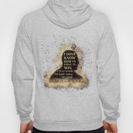 Gokhan Saki Gold Quote In Destructive Abstract Silhouette T-Shirt & Apparel Hoody