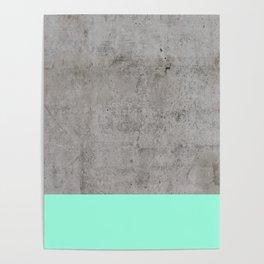 Sea on Concrete Poster