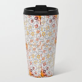 Tetris Rainbow Pattern - Copic & Ink Drawing Travel Mug