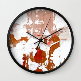 Blush Abstract 02 Wall Clock