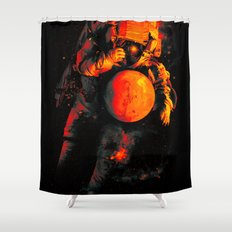 It's a Small Worls After All (Mars) Shower Curtain