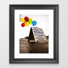 Party World Framed Art Print