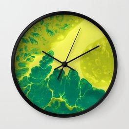 Green #1 Wall Clock
