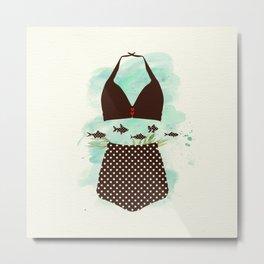The Bikini Series: Polkadot bikini Metal Print