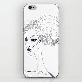 flowers in a hair iPhone Skin