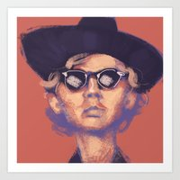cassia beck Art Prints featuring Beck by ShannonMarieMack