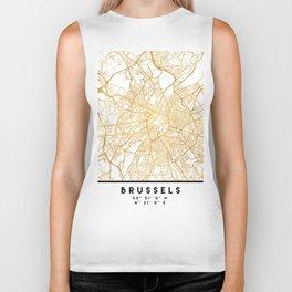 BRUSSELS BELGIUM CITY STREET MAP ART Biker Tank